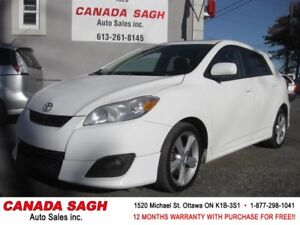 2009 Toyota Matrix, XR, 2 SETS TIRES, SUNROOF,12 M WRTY,SAFETY