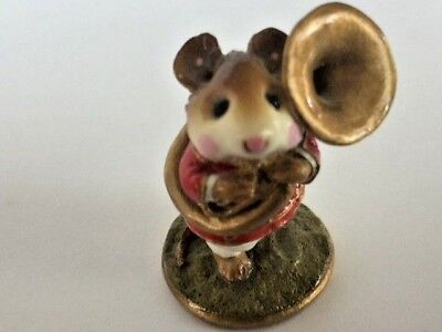 Vintage Wee Forest Folk M-153c Tuba Player Retired 1987 William Petersen for sale  Shipping to Canada