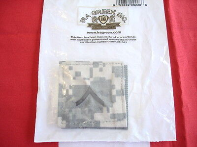 ACU Army Rank PVT New Embroidered Set of 2 Hook Backing 2 X 2 Private