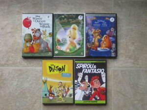 Lot 5 films DVD - ENFANTS - Spirou, Lucky Luke, Disney