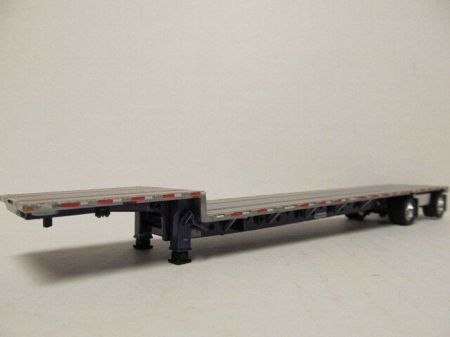 DCP 1/64 SCALE TRANSCRAFT STEP DECK TRAILER SILVER DECK WITH PURPLE FRAME