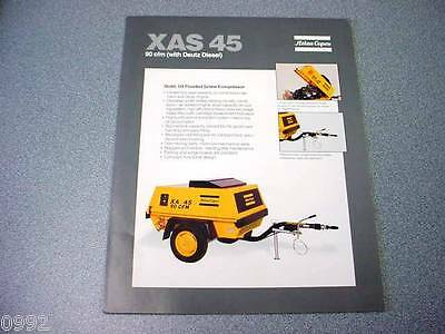 Atlas Copco Xas 45 Portable Compressor Deutz Diesel Brochure