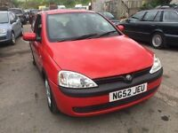 2003 Vauxhall Corsa, starts and drives well, MOT until 21st November, very clean inside and out, car