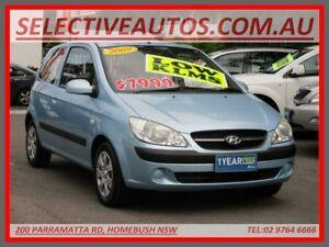 2009 Hyundai Getz TB MY09 S Blue 4 Speed Automatic Hatchback Homebush Strathfield Area Preview
