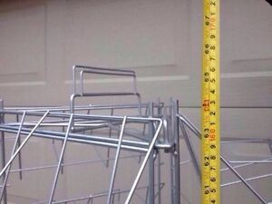 Metal retail floor stand / display unit on wheels - LOWER PRICE Cambridge Kitchener Area image 3