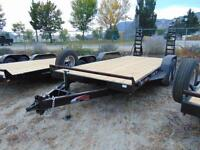 2016 Mirage 18' Heavy Duty Equipment Trailer w. Fold Down Ramps