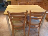Pine Table & 3 Chairs