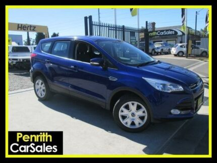 2014 Ford Kuga TF Ambiente (AWD) Blue 6 Speed Automatic Wagon