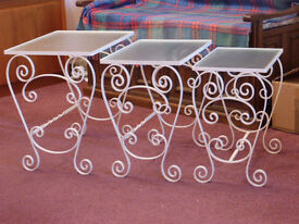 Nesting Glass Top Tables
