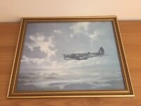 RAF Airplane Collectable WW11 Military Print – Blenheim Bomber by Ron Lackenby