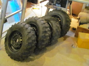 Honda Side by Side Tires with Rims X4 BRAND NEW never used.