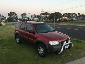 2001 Ford Escape BA XLS Red Automatic Wagon Wangara Wanneroo Area Preview