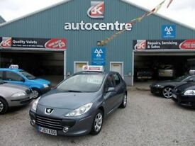 PEUGEOT 307 1.6 S HDI 5d 89 BHP 12 month mot and a warranty (grey) 2007
