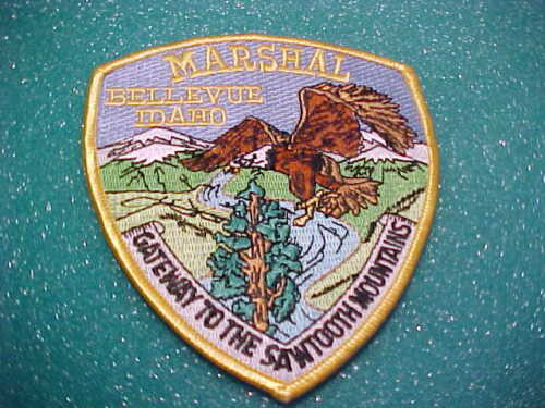 BELLEVUE IDAHO MARSHALL POLICE PATCH SHOULDER SIZE UNUSED