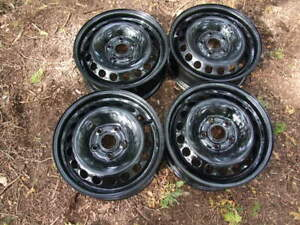 "4-16"" 5x120MM BLACK STEEL WHEELS"