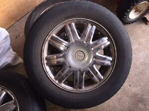 Reduced Town&Country rims & tires with pressure sensorsSet of 4