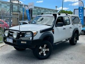 2009 Ford Ranger PK XL (4x4) White 5 Speed Manual Dual Cab Pick-up St James Victoria Park Area Preview