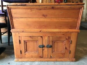 Antique Rustic Pine Dry Sink Circa 1890/1900