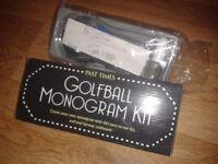 Boxed golfball monogram set
