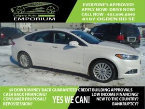 2015 Ford Fusion SE Hybrid luxury Pkg with leather *$28 DOWN EVE