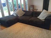 Amazing & Chic L Shape Corduroy Couch Palm Beach Pittwater Area Preview