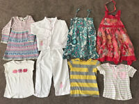Girls bundle 4-5 (JoJo Maman Bebe, Boden, NEXT, M&Co, Powell Craft)dresses, tops (9 items)