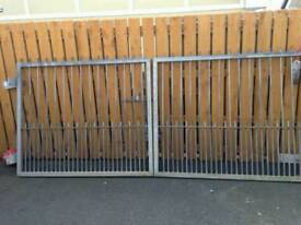 3 Galvanised Iron Gates