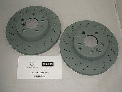 Genuine Mercedes-Benz W212 E-Class FRONT Vented AMG Brake Discs A0004213012 NEW