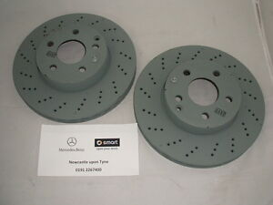 Genuine Mercedes-Benz W212 E-Class FRONT Vented AMG Brake Discs A0004211112 NEW