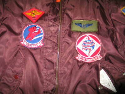 Pentagon Trading Co Maroon MA1 Flyers Intermediate Real Military Jacket Patched  for sale  Citrus Heights