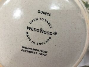 Wedgwood Quince Pattern Oven to Tableware