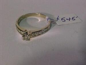 #3232-14K W/Gold ENGAGEMENT RING-OVER 1/2 carat DIAMONDS-Size 7 3/4-APPRAISED $2,100.00 SELL-$545.00 FREE SHIPPING-