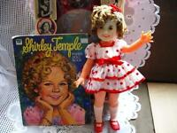 "16"" 1974 VINYL ORIGINAL SHIRLEY TEMPLE DOLL,BOX,PAPER DOLL BOOK"