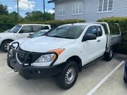 2014 Mazda BT-50 UP0YF1 XT Freestyle White 6 Speed Manual Cab Chassis Mount Gravatt Brisbane South East Preview