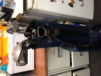 REGAL GOLF BAG WITH PUTTER, TWO WOODS AND NINE IRONS