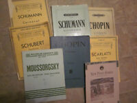 Piano Scores, mostly classical