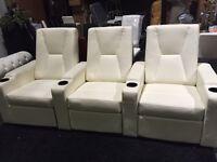 CYBER MONDAY - Beautiful White Theater Seating