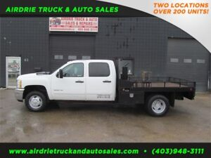 2013 Chevrolet Silverado 3500HD LT Crew Cab 9 Ft Flat Deck Gas