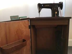 Singer Treadle Cabinet Sewing Machine 201K St Kilda Port Phillip Preview