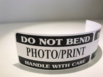 250 1.25 X 3 Do Not Bend Photoprint Handle With Care Do Not Bend Black Labels