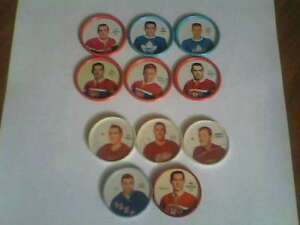 Shirriff Hockey Coins-6 Metal, 5 Plastic
