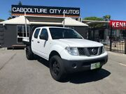 2011 Nissan Navara D40 S6 MY12 RX White 6 Speed Manual Cab Chassis Morayfield Caboolture Area Preview