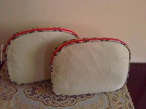Set of 2 women's makeup bags pouches carry cases Brand new