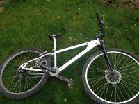 Custom built trials mountain bike