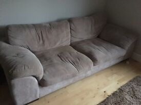 2 Seater & 3 Seater Sofas in Light Grey Fabric