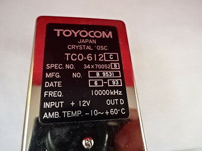 Toyocom Japan Quartz Precision Oscillator 10 Mhz Tc0-612 As Pictured 7c-a-02