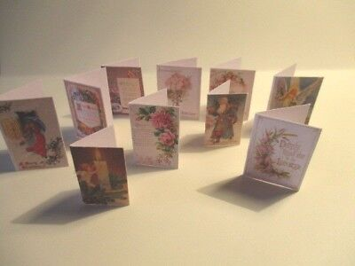 DOLLS HOUSE MINIATURE  VICTORIAN CHRISTMAS CARDS