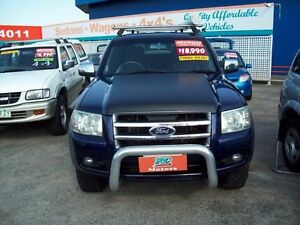 2007 Ford Ranger PJ XLT Crew Cab Blue 5 Speed Manual Utility Capalaba West Brisbane South East Preview
