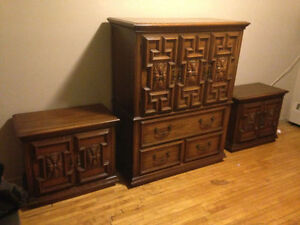 Antique Handmade Hespeler Dresser Night tables Bedroom Set