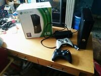 Boxed xbox 360 4gb with kinect guitar and dj hero